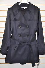 Women's DKNY Double Breasted Trench Coat with Detachable Hood. Sz.PL(Petite)