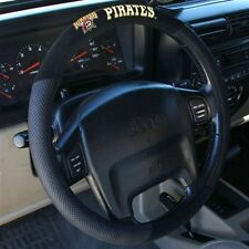 PITTSBURGH PIRATES BLACK MESH CAR AUTO STEERING WHEEL COVER NEW FREE SHIPPING