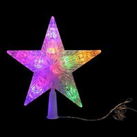 Multi Coloured Star Battery Powered Christmas Tree Topper with Timer