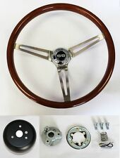 "Chevelle Nova Camaro Impala Wood Steering Wheel High Gloss 15"" SS Center cap"