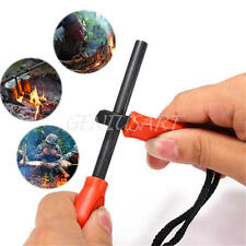 Outdoor Magnesium Flint Striker Stone Fire Steel Starter Lighter Survival Kit