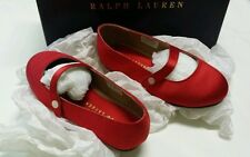 Ralph Lauren Amarissa satin strap girls shoes  Size 9 - 15cm