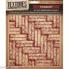 Crafters Companion Textures - 8x8 Embossing Folder - PARQUET -  EF5-PARQ