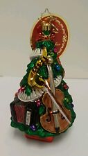 Christopher Radko Glass Christmas Ornament Tree Tunes Music Teacher 1017396