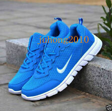 MENS AND BOYS, SPORTS TRAINERS RUNNING GYM SIZES Blue white US10//UK9.5//EUR40