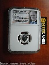 IN HAND: 2015 P REVERSE PROOF SILVER DIME NGC PF70 FROM MARCH OF DIMES SET FDR