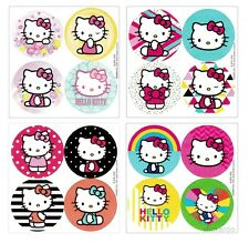 48 Sanrio Hello Kitty Dot Stickers Kid Party Goody Loot Bag Filler Favor Supply