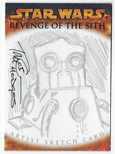 Star Wars Revenge of the Sith Topps sketch card Tom Hodges Wat Tambor