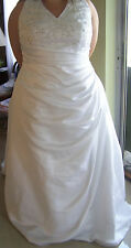 New Womens Plus Size 24 White Wedding Dress Bridal Gown Halter Top New w/tags