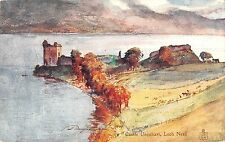 BR93732 castle urquhart loch ness scotland painting postcard