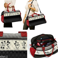 Disney Mickey Mouse And Minnie Mouse Quilted Weekender Tote Bag  BNIB