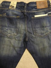 PRPS BARRACUDA Straight Medium Blue Faded Men Jeans 34 x 33.5  Orig. $250+ Sale!