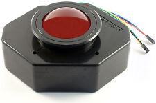 "Ultimarc U-Trak 3"" USB Arcade Trackball with Bezel (Red Translucent) - MAME"
