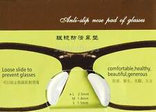 2.5mm Stick On Nose Pads Silicone Frames Sunglasses Glasses Spectacle Adhesive C