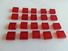 Lego 3070b# 20x Fliese 1x1 flach Transparent Rot 9500 7663 1376