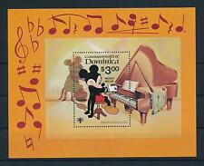 [22192] Dominica 1979 Disney Mickey Mouse playing piano MNH