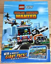 LEGO CITY Rescue Drivers Wanted Promo BOOKLET new with Stickers
