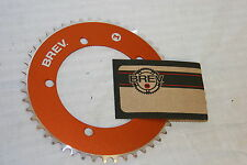 Brev. M Masi Fixie Fixed Gear ChainRing Sprocket Chain Ring 42t Orange 130 BCD