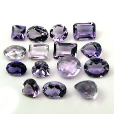 Fine Quality 14.8Ct 15pc Lot  Natural Amethyst Mix Faceted Gemstones