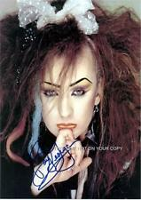 Boy George of Culture Club Signed Photos Autograph 8x10 O'Dowd Jesus Loves You
