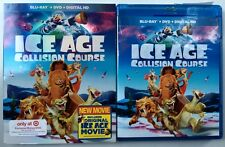 ICE AGE COLLISION COURSE BLU RAY DVD + SLIPCOVER TARGET EXCLUSIVE BONUS 3 DISC