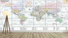 WORLD MAP CARTE DU MONDE  XXL Poster Home Deco Salon 252cmX150 Large print 02