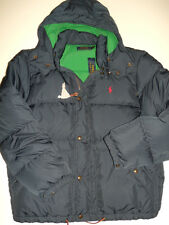 NWT Mens Polo Ralph Lauren Elmwood Down Puffer Hooded Coat Large Navy NEW