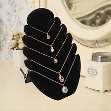 Necklace Bust Jewelry Chain Pendant Display Holder Stand Neck Fabric Easel New