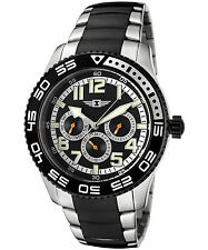 I by Invicta 43658-004 Men's Multi-Function Two-Tone Stainless Steel Black