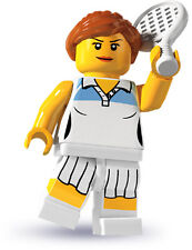 LEGO 8803 Tennis Gal Girl Player Minifigure Series 3 New SEALED