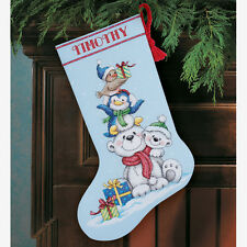 Dimensions D70-08840 Stack Of Critters Christmas Stocking Counted Cross Stitch