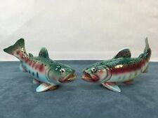 Rainbow Trout Game Fish Salt and Pepper Shakers Gift UCAGCO Japan Vintage 50s