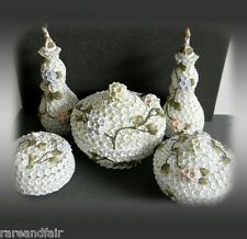 Schneeballen snowball dresser and jar set with flowerheads - 1880 - FREE SHIP