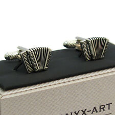 Novelty Accordion Cufflinks Cuff Links by Onyx Art New Boxed