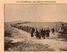 JAPANESE RUSSIAN WAR WIJOU JAPAN GUARDE KOREAN COUNTRY MEN 1908 OLD PRINT