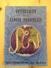 ANDRÉ ARIÈS - UNIVERSALITÉ DE LA LANGUE PROVENÇALE