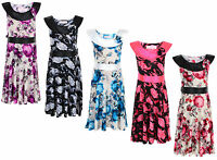 GIRLS DRESS FLOWER PRINT FORMAL PARTY DRESS 2-11 YEARS BRAND NEW
