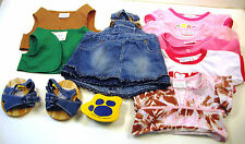 11 Pc Build A Bear Clothes Shoes Denim Jumper Girl Scout Brownies Sandals Lot