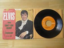 Elvis 45rpm Record & Picture Sleeve, Don't Cry Daddy/Rubberneckin, RCA, England