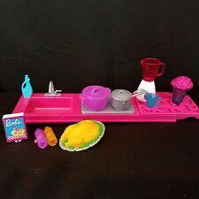 Barbie Dream House 7949 Replacement Kitchen Sink & Accessories 2013