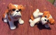 NEW BRITISH BULLDOGS NOVELTY CERAMIC SALT & PEPPER POTS BULL DOGS