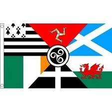 Celtic Nations 5 x 3 FT Flag - Ireland Wales Scotland Cornwall Brittany Manx IE