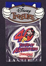 LMH PATCH Badge  MICKEY MOUSE  Disneyland  40 YEARS ADVENTURE World  WALT DISNEY