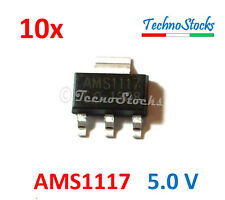 10x AMS1117 Regolatore Tensione 5.0V, 1A Low Dropout Voltage Regulator 1117