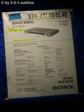 Sony Service Manual STR KSL40 /SL40 FM/AM Receiver (#5378)