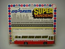 VINTAGE MAJORETTE-SUPER TANDEMS-AUTOCAR COUNTRY BUS OMNIBUS-#373-(MADE IN FRANCE
