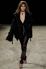 Gucci Tom Ford Runway Sexy Black Fox Fur Sweater Jacket Sublime Small!