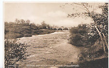 Northumberland Postcard - Bridge and River from Woods - Chollerford   A2923