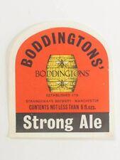 England Boddingtons Strong Ale V2 label 6oz Tavern Trove