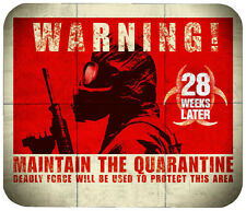 28 WEEKS MOUSE PAD 1/4 IN. TV HORROR MOVIE MOUSEPAD